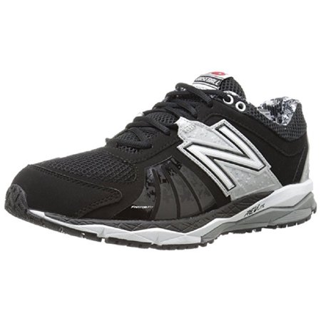 051cd025b New Balance - New Balance Men's T1000 Turf Low Baseball Shoes Black/Silver  Size 15.0M - Walmart.com