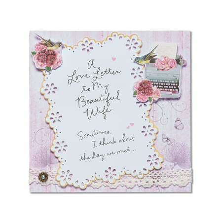 American greetings love letter valentines day card for wife with american greetings love letter valentines day card for wife with glitter m4hsunfo Images