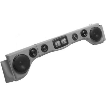 Jeep Wrangler Yoke (Grey Soundbar Six Speakers With Map Lights Overhead Sound Bar For JEEP)