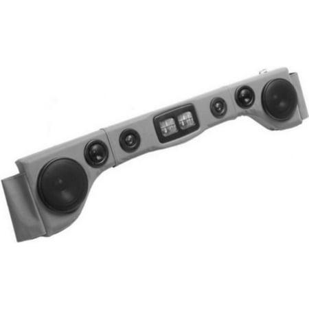 - Grey Soundbar Six Speakers With Map Lights Overhead Sound Bar For JEEP Wrangler