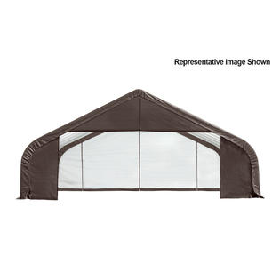 Peak Style Shelter 30x28x16 Steel Frame in Gray Cover by