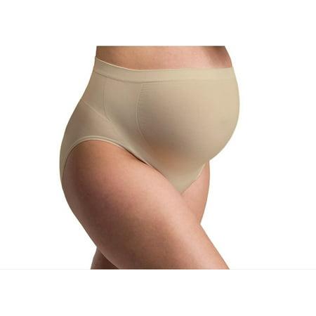 Women's Seamless Maternity High Waist Over the Bump Pregnancy Panties 6 (Waist Cotton Maternity Panties)