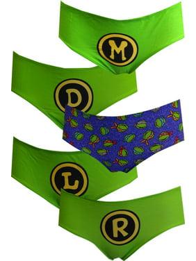 Teenage Mutant Ninja Turtles 5 Pack Hipster Panties Size Large