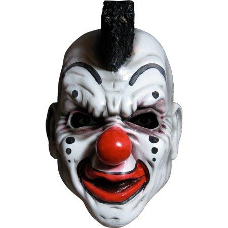Overhead Latex Adult Slipknot White Black Clown Costume Mask