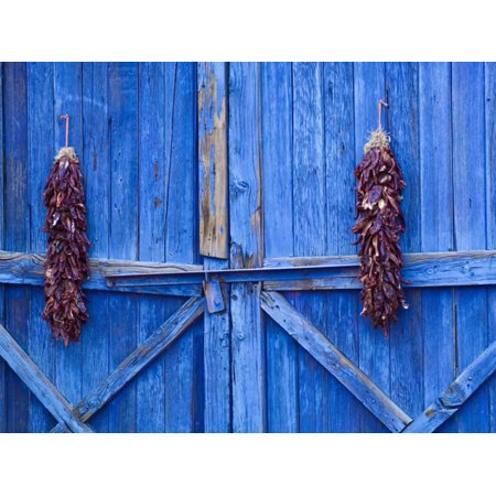 Chilli Ristra Hanging in Old Town Albuquerque, New Mexico Print Wall Art By Michael
