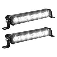 LED Light Bar, EEEKit 18W 6000K LED Work Light Bar 10-30V 6 LED Driving Lights Fog Offroad Lamp For Vehicles, ATV, Truck SUV, 2-Pack