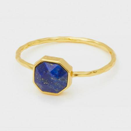 Gold Lapis Ring (Gorjana Power Gemstone Lapis Charm Gold Ring Size 7 189301765G)