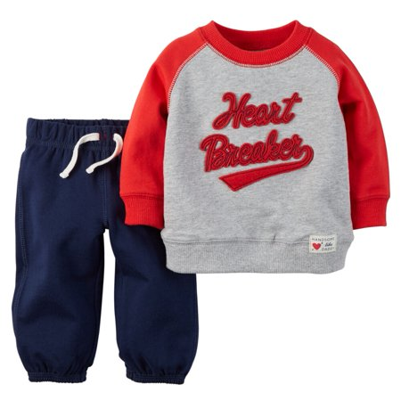 bc8b837142cf2 Carter's - Carters Baby Boys Valentine's Day Pullover & Pant Set -  Walmart.com