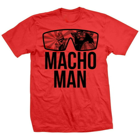 LICENSED Pro Wrestling Tees™ Mens Unisex Macho Man Randy Savage Classic - Macho Man Randy Savage Outfit
