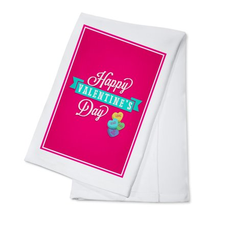 Happy Valentines Day - Candy Hearts - Lantern Press Artwork (100% Cotton Kitchen (Cotton Candy On A Rainy Day Analysis)