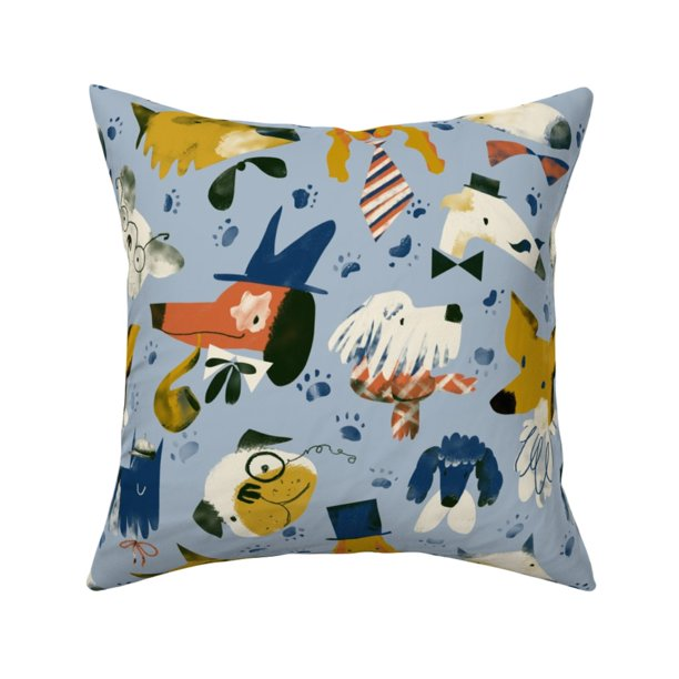 Fancy Dogs Bulldog In Hats Throw Pillow Cover W Optional Insert By Roostery Walmart Com Walmart Com