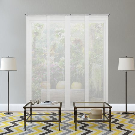 Fabric Vertical Blinds - Chicology Adjustable Sliding Panels, Cut to Length Vertical Blinds, Cloud White (Solar) - Up to 80