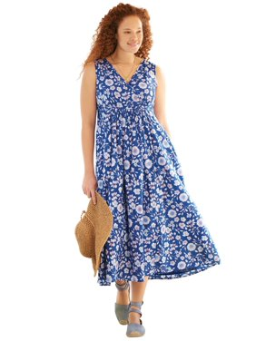 Plus Size Empire Waist Floral Maxi