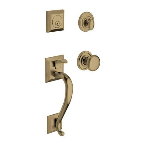 Baldwin Madison Single Cylinder Handleset with Interior Knob and Sectional Trim