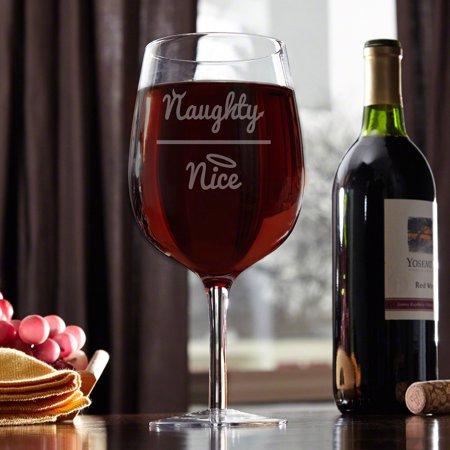 Naughty or Nice Extra Large Wine (Nice Girl Glasses)