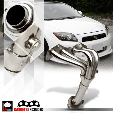 Stainless Steel Exhaust Header Manifold for 05-10 Scion tC 2.4 2AZ-FE VVT-i 4Cyl 06 07 08 09