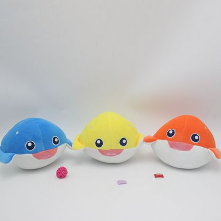 Fancyleo 1 Pcs Cute Soft 12cm Dolphin Turtle Crab Shark Puffer Fish Plush Toy Doll Marine Animals Stuffed Toys Children's Toys Home Decor Gift Random Color Decor Stuffed Animal