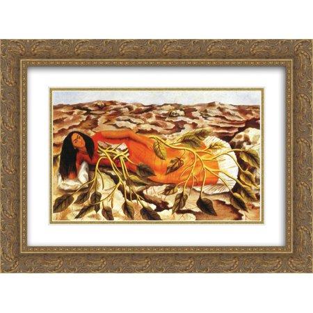 42a1f7ea5e7a Frida Kahlo 2x Matted 24x18 Gold Ornate Framed Art Print  Roots  -  Walmart.com