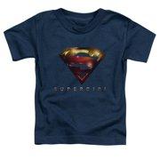 Supergirl Logo Glare Little Boys Shirt