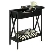 Convenience Concepts Tucson Flip Top End Table with Charging Station