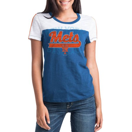 MLB New York Mets Women's Short Sleeve Team Color Graphic