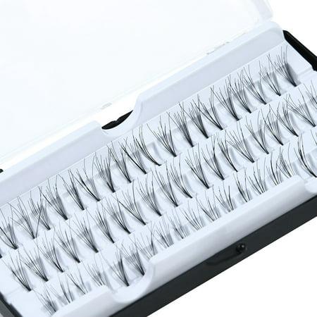 60 Individual Extension False Fake Eyelashes Premium Corner Flare Cluster