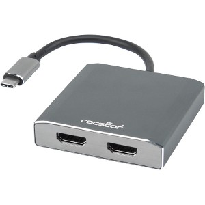 Rocstor Premium USB-C to Dual HDMI Multi Monitor Adapter 4K 30Hz USB Type- C