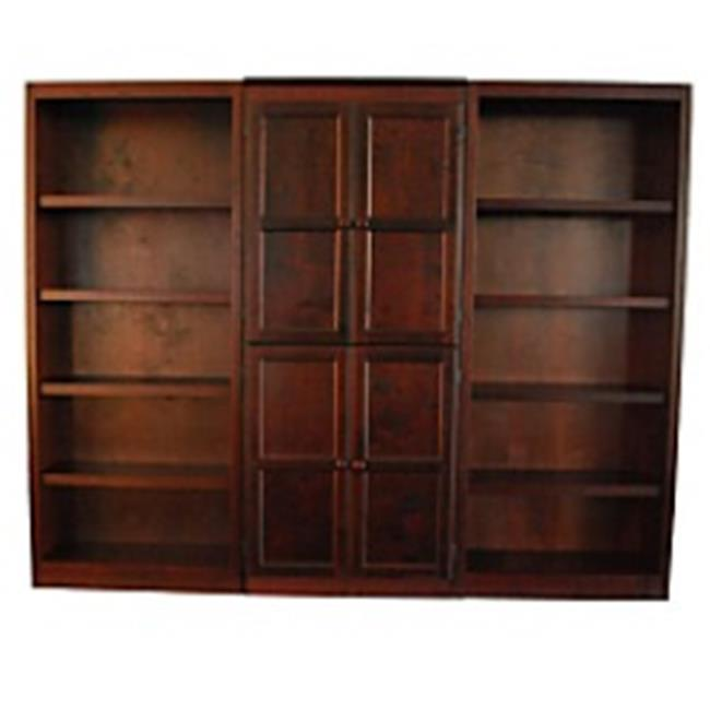 Concepts In Wood WKT3072-C 3-Piece Wall and Storage System, Cherry Finish 15 Shelves