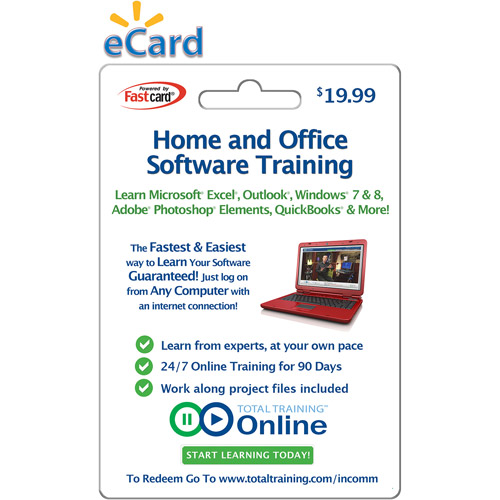 Total Training Home and Home Office Software Training $19.99 eGift Card (Email Delivery)