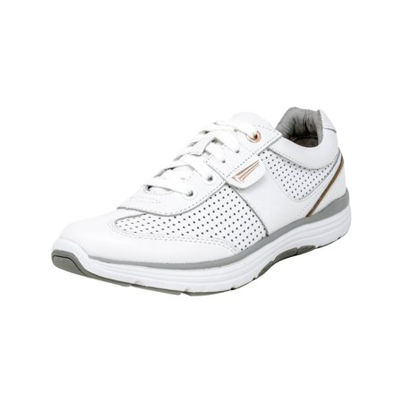 Copper Fit Pro Women's Motion Lace Up White Ankle-High Leather Fashion Sneaker - 7.5M ()