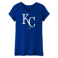 MLB Kansas City ROYALS TEE Short Sleeve Girls 50% Cotton 50% Polyester Team Color 7 - 16