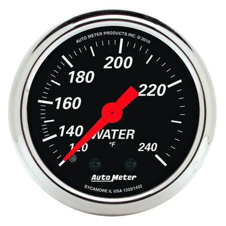 AutoMeter 1432 Designer Black Mechanical Water Temperature (Autometer Autogage Mechanical Water)