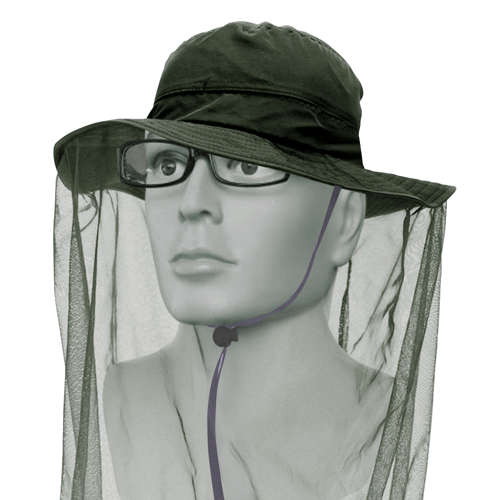 Mosquito Resistance Bug Insect Bee Net Mesh Head Face Protector Cap Hat Outd Neu