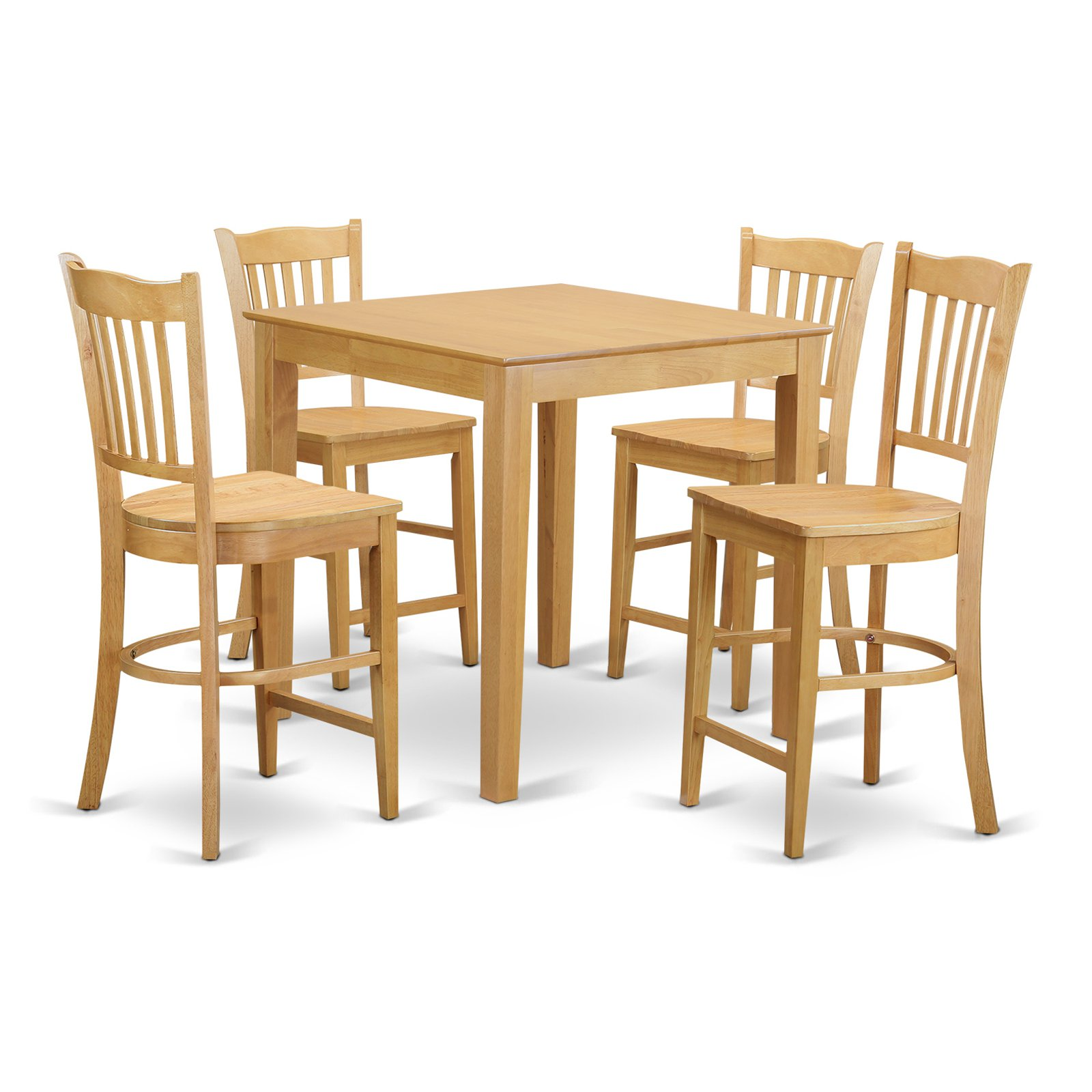 East West Furniture Pub 5 Piece Comb Back Dining Table Set