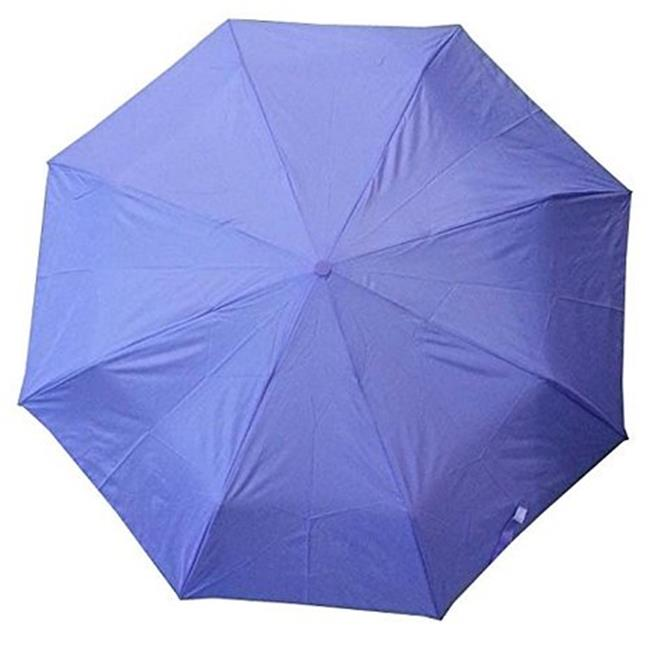 Conch Umbrellas 30140Purple 43 inch 3 Fold Umbrella, Folds Into 11 inch Long