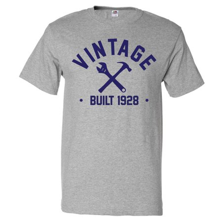 90th Birthday Gift T Shirt 90 Years Old Present 1928 Tools Tee