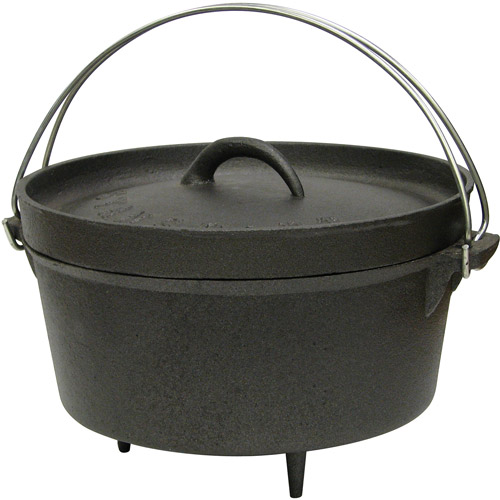 Stansport 4qt Cast Iron Dutch Oven with Legs