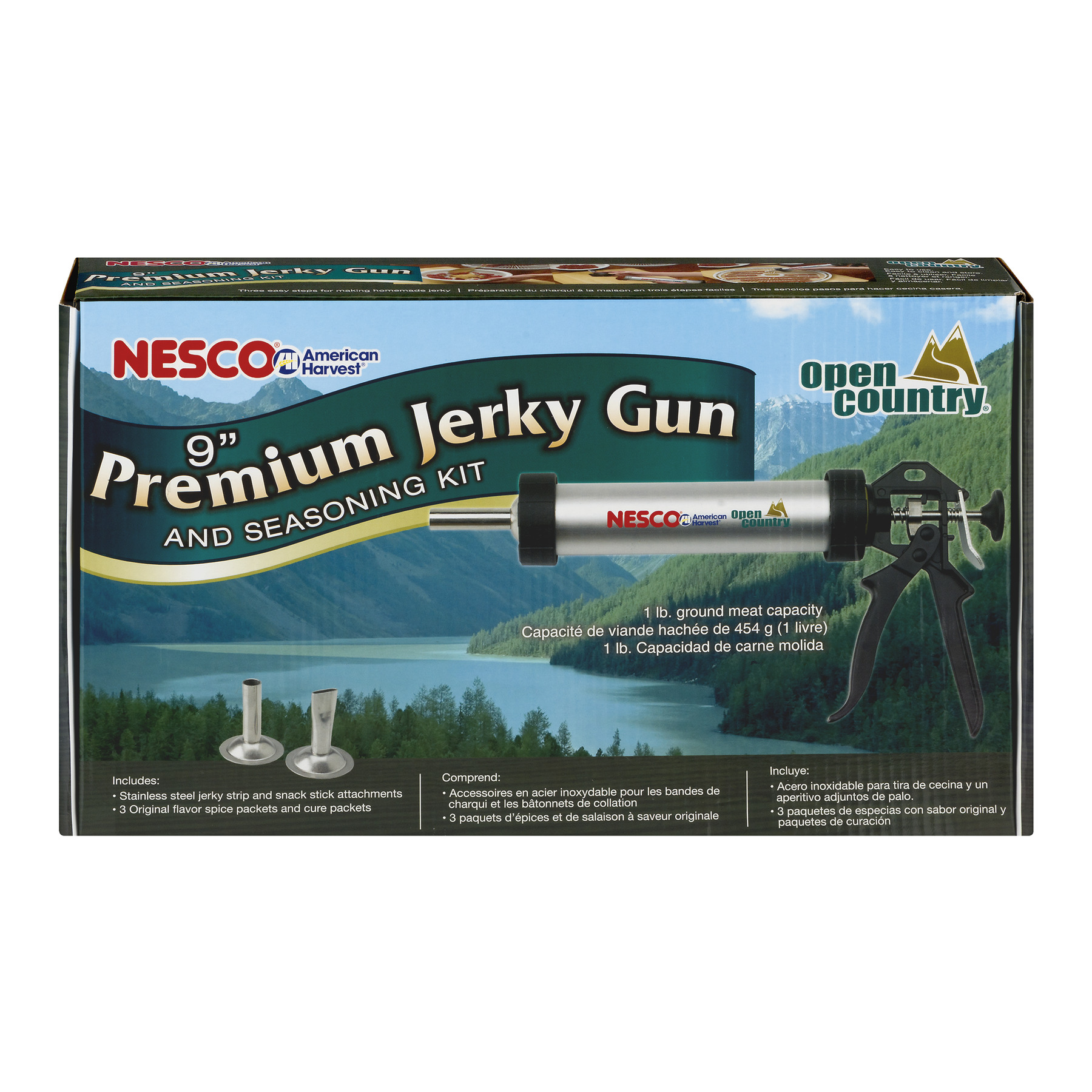 Nesco BJX-9 Jerky Works Kit 9-in. Aluminum Jerky Gun