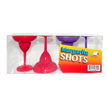 SET OF 4 PLASTIC SHOT GLASS MARGARITA - Margarita Shots