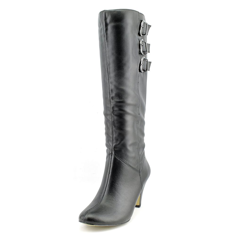 Bella Vita 50-4806 Women Round Toe Synthetic Black Knee High Boot by Bella Vita