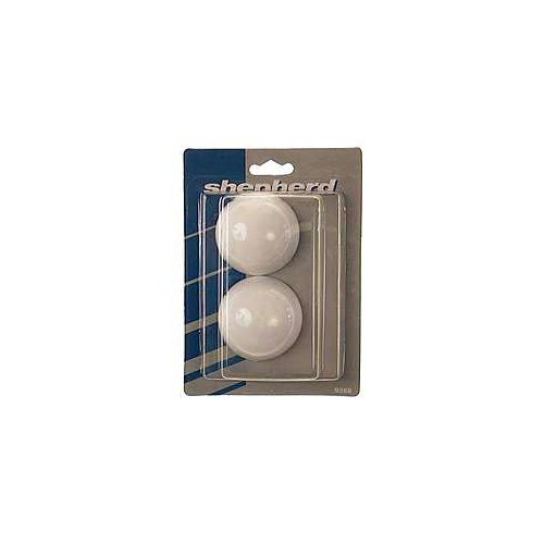 "Shepherd 9568 2-3 16"" White Cushion Door Stops, 2 Count by Shepherd"