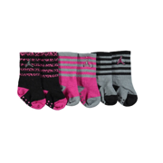 NIKE Jordan Baby Girls' 3-Pack Crew Socks - black, 12 - 24 months