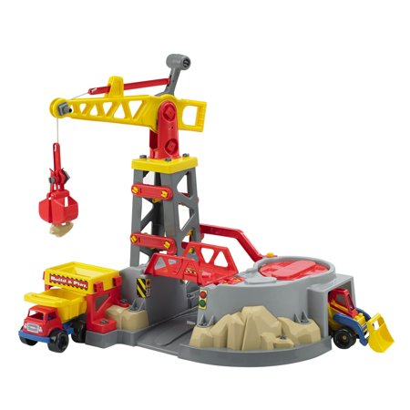 American Plastic Toys Build & Play Colossal Construction Zone Play Vehicle Set