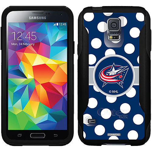 Columbus Blue Jackets Polka Dots Design on OtterBox Commuter Series Case for Samsung Galaxy S5