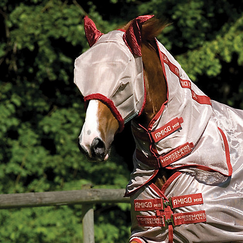 Amigo Fly Mask with Ears Horse Bronze/Navy