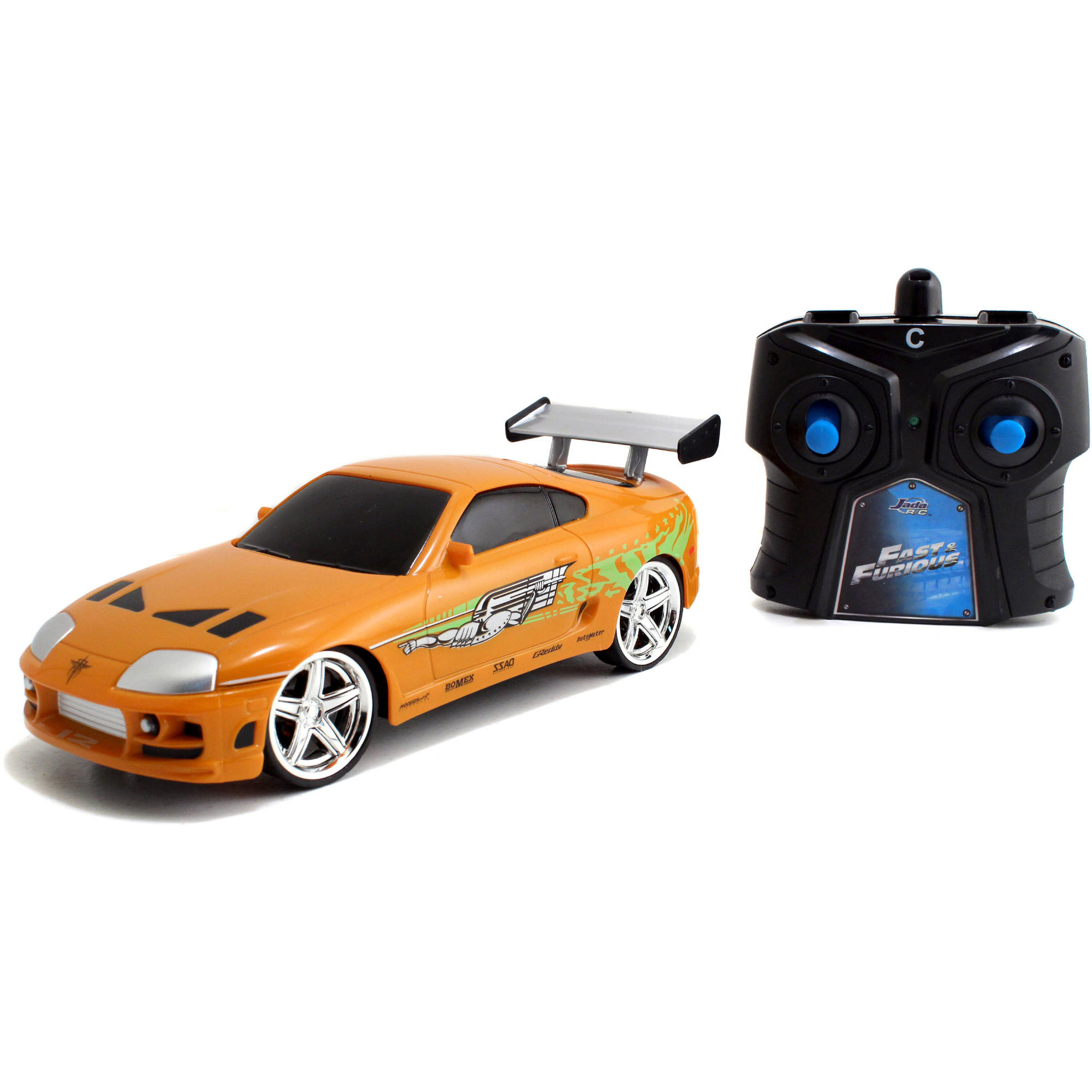 Jada Toys Fast and Furious 1:24 Radio Control Car, Brian's Toyota Supra by Jada Toys