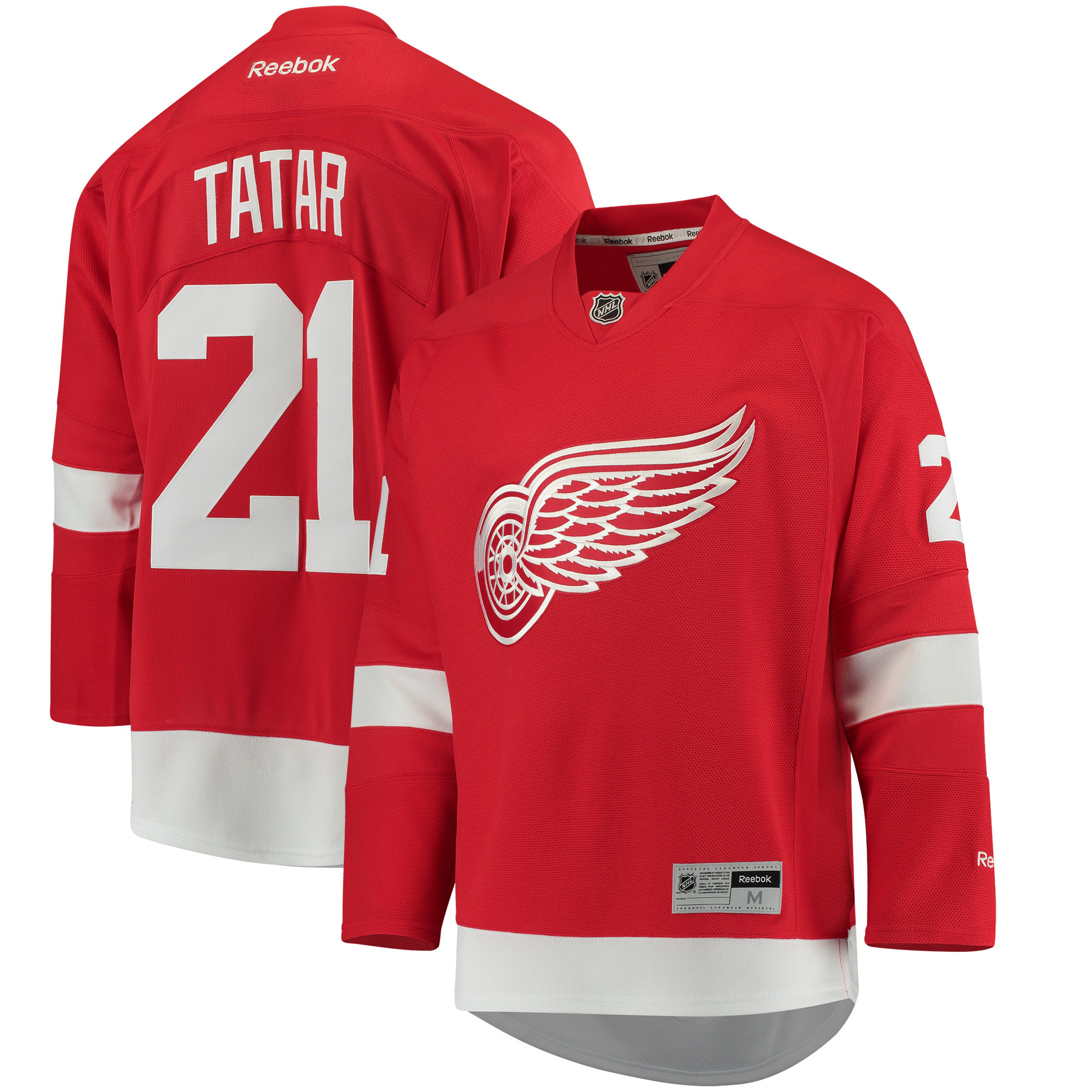 Tomas Tatar Detroit Red Wings NHL Reebok Red Official Premier Home Jersey For Men