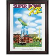 "1978 Cowboys vs Broncos 36"" x 48"" Framed Canvas Super Bowl XII Program"