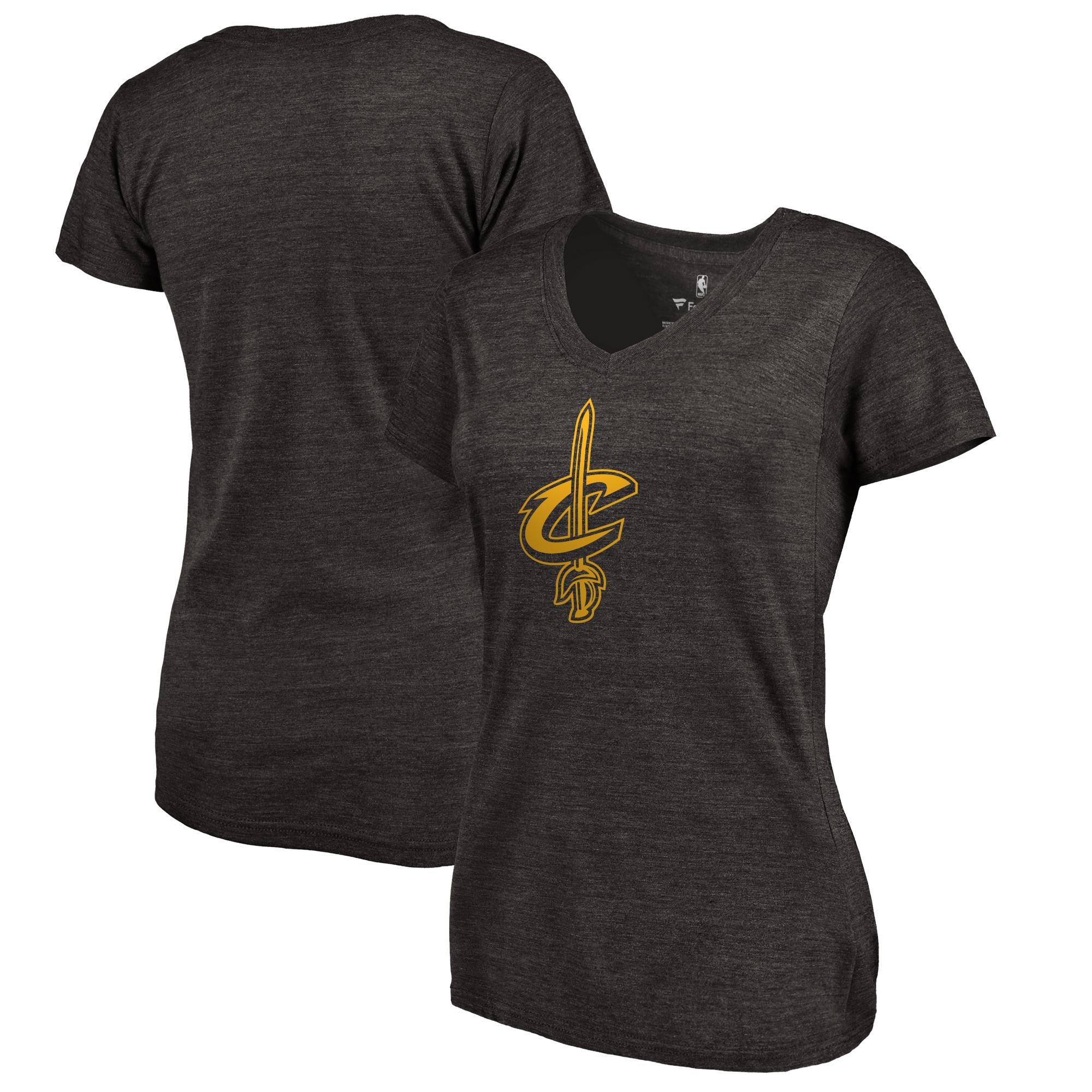 Cleveland Cavaliers Women's Taylor Tri-Blend T-Shirt - Black