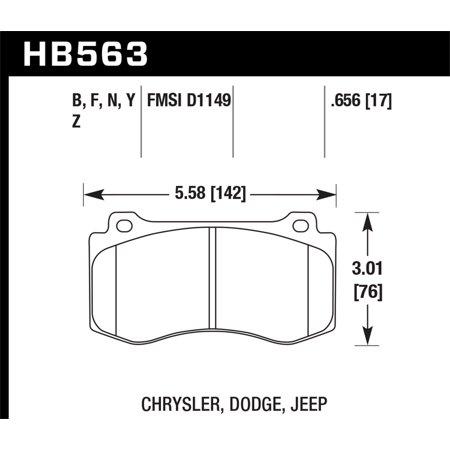 Hawk Performance HB563Z.656 Performance Brake Pad - image 2 de 2